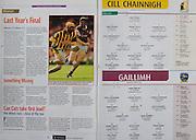 All Ireland Senior Hurling Championship Final,.12.09.2004, 09.12.2004, 12th September 2004,.Senior Cork 0-7, Kilkenny 0-9,.Minor Kilkenny 1-18 ,  Galway 3-12 (draw),.12092004AISHCF,..Kilkenny, 1 Liam Tierney, Rower Instioge, 2 James Maher, St Martin's, 3 Kieran Joyce, Rower Inistioge, 4 Eamonn Walsh, Ballyhale Shamrocks, 5 Neal Prendergast, Clara, 6 Ronan Maher, St Martin's, 7 Shane Prendergast, Clara, 8 Pat Hartley, Tullogher Rosbercon, 9 Patrick Hogan, Danesfort, 10 Gavin Nolan, Conahy Shamrocks, 11 Maurice Nolan, O'Loughln Gaels, 12 Nicholas Kenny, 13 Richard Hogan, Danesfort, 14 Eddie O'Donoghue, Dicksboro, 15 Eoin Guinan, St Lachtains, ..Galway, 1 Mark Herlihy, Kilnadeema Leitrum, 2 Paul Loughnane, Cappataggle, 3 Gerard Mahon, Kinvara, 4 Ciaran O Donovan, 5 Martin Ryan, Kilconleron, 6 John Lee, Liam Mellowes, 7 Keith Kilkenny, 8 Andrew Carey, A O Ciara, 9 David Kennedy, Ardrahan, 10 Daniel White, Tommie Larkins, 11 Kevin Hynes, Sarsfields, 12 Finian Coone, Mullagh, 13 Karl Wade, Sarsfields, 14 Joe Canning, Portumna, 15 Barry Hanley, Carnmore,
