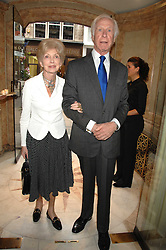 MR BRINSLEY & LADY MOOREA BLACK at a reception to celebrate the launch of Prince Dimitri of Yugoslavia's one-of-a-kind jeweleery collection held at Partridge Fine Art, 144-146 New Bond Street, London on 11th June 2008.<br />