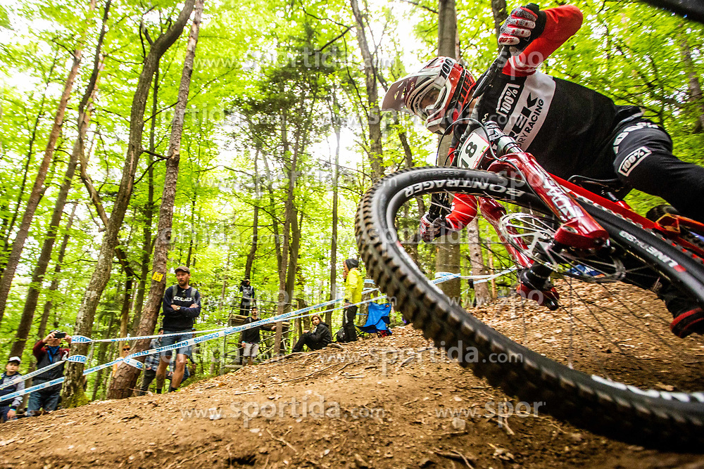 Reece Wilson of Great Britain during Mercedes-Benz UCI Mountain Bike World Cup competition final day in Bike Park Pohorje, Maribor on 28th of April, 2019, Slovenia.  . Photo by Grega Valancic / Sportida