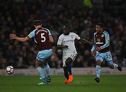 Victor Moses of Chelsea (C) in action - Mandatory by-line: Jack Phillips/JMP - 19/04/2018 - FOOTBALL - Turf Moor - Burnley, England - Burnley v Chelsea - English Premier League