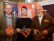 REPRO FREE:   Des Lally of Clifden Arts Festival with Cliodhna and Leo Hallissey  in Hotel Meyrick for the announcement of the programme for the 2018 Galway International Arts Festival Programme 16-29 July which features an exciting Irish and international programme of theatre, opera, dance, circus, music, spectacle, visual art, and First Thought Talks featuring interviews and discussions on the theme of home, six world premieres, five Irish premieres and artists and theatre makers from across the world. Highlights include world premieres of Paul Muldoon's Incantata, new plays by Sonya Kelly and Cristin Kehoe (Druid) and a new theatre installation from Enda Walsh, visual arts / installations commissions from David Mach Rock 'n' Roll and Olivier Grossetête The People Build. Photo:Andrew Downes, xposure.