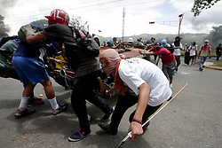 July 18, 2017 - Naguanagua, Carabobo, Venezuela - Protesters clash with Venezuela security forces for more than 5 hours.. (Credit Image: © Juan Carlos Hernandez via ZUMA Wire)