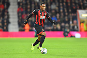 Jordon Ibe (10) of AFC Bournemouth on the attack during the EFL Cup 4th round match between Bournemouth and Norwich City at the Vitality Stadium, Bournemouth, England on 30 October 2018.