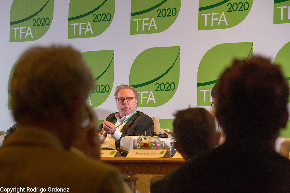 Jeff Seabright, Chief Sustainability Officer at Unilever, speaks at a panel discussion during the opening session of the General Assembly of the Tropical Forest Alliance 2020 in Jakarta, Indonesia, on March 10, 2016. <br /> (Photo: Rodrigo Ordonez)