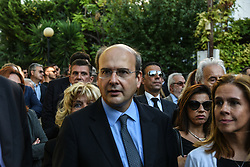 October 14, 2017 - Athens, Attica, Greece - Konstantinos Chatzidakis lawmaker from the New Democracy party during funeral of Michael Zafeiropoulos In Athens on October 14, 2017. The lawyer was murdered in his office on October 12. His funeral was attended by prominent politicians of the Nr a Dimokratia. (Credit Image: © Wassilios Aswestopoulos/NurPhoto via ZUMA Press)