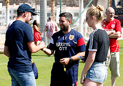 Bristol City head coach Lee Johnson greets fans after the open training session - Mandatory by-line: Matt McNulty/JMP - 20/07/2017 - FOOTBALL - Tenerife Top Training Centre - Costa Adeje, Tenerife - Pre-Season Training