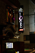 Love Inn Hotel, Kyoto, Japan. at Night