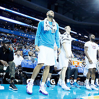 03 November 2015: Michael Jordan's wife Yvette Prieto and Michael Jordan are seen next to Charlotte Hornets forward Nicolas Batum (5) and teammates during the Charlotte Hornets  130-105 victory over the Chicago Bulls, at the Time Warner Cable Arena, in Charlotte, North Carolina, USA.