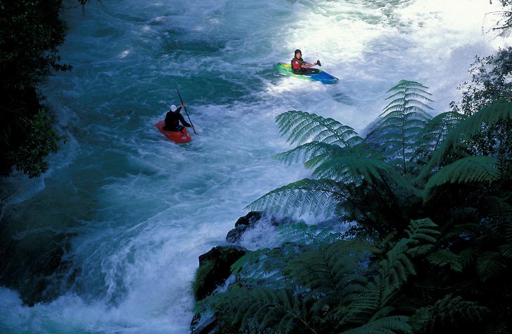 River Kajaking on Kaituna River near Rotorua, North Island, New Zealand