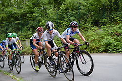 Emma Johansson (Wiggle High5) and Lisa Brennauer (CANYON//SRAM Racing) lead up the final climb at Thüringen Rundfarht 2016 - Stage 2 a 103km road race starting and finishing in Erfurt, Germany on 16th July 2016.