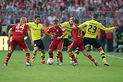 04.05.2013, Signal Iduna Park, Dortmund, GER, 1. FBL, Borussia Dortmund vs FC Bayern Muenchen, 32. Runde, im Bild, vl: Anatoliy TYMOSHCHUK (FC Bayern Muenchen - 44) - Nuri SAHIN (Borussia Dortmund - BVB - 18) - Xherdan SHAQIRI (FC Bayern Muenchen - 11) - Marcel SCHMELZER (Borussia Dortmund - BVB - 29) - RAFINHA (FC Bayern Muenchen - 13) - Julian SCHIEBER (Borussia Dortmund - BVB - 23) // during the German Bundesliga 32th round match between Borussia Dortmund and FC Bayern Munich at the Signal Iduna Park, Dortmund, Germany on 2013/05/04. EXPA Pictures © 2013, PhotoCredit: EXPA/ Eibner/ Gerry Schmit..***** ATTENTION - OUT OF GER *****