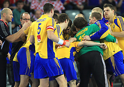 Team of Sweden before 21st Men's World Handball Championship 2009 Main round Group I match between National teams of France and Sweden, on January 24, 2009, in Arena Zagreb, Zagreb, Croatia.  (Photo by Vid Ponikvar / Sportida)