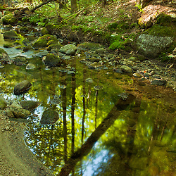 A stream on the lower slopes of Black Mountain in Sutton, New Hampshire.