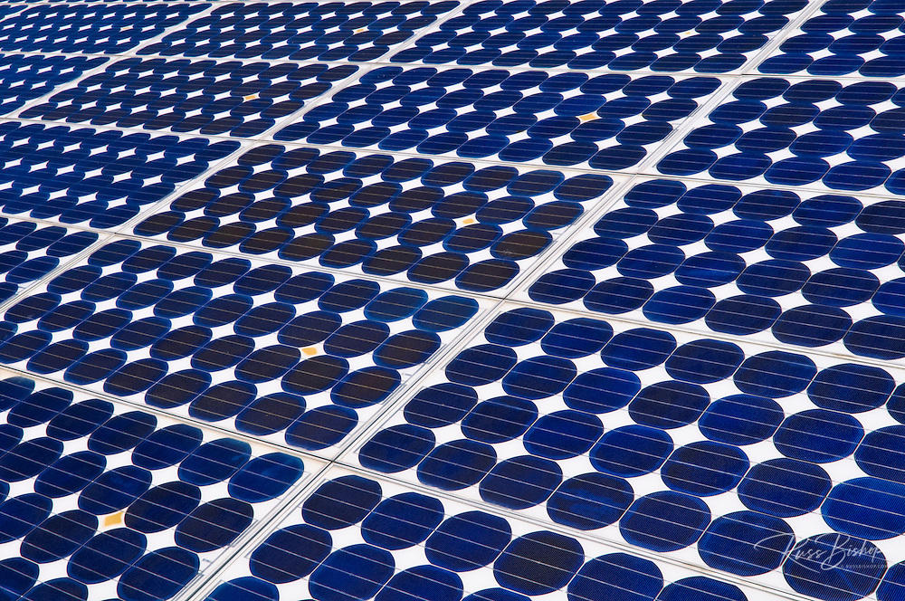 Solar panels, Death Valley National Park. California