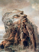 The Four Seasons - Allegory of Winter' Anthropomorphic landscape Oil on Wood.  Joos or Josse de Momper the Younger (1564-1635) Flemish landscape painter.