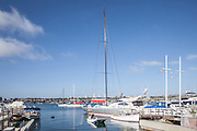 Boats Docked in Balboa Harbor Newport Beach California