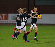 Dundee&rsquo;s Matty Hanvey celebrates his second goal  - Dundee under 20s v Alloa Athletic in the Irn Bru Cup Round 1 at Dens Park, Dundee - photograph by David Young<br /> <br />  - &copy; David Young - www.davidyoungphoto.co.uk - email: davidyoungphoto@gmail.com