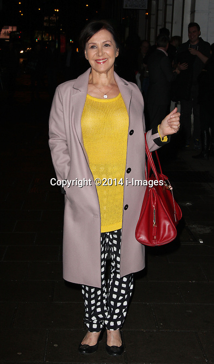 ARLENE PHILLIPS arrives for the opening night for the new musical A-Z Of Mrs P, London, United Kingdom. Monday, 24th February 2014. Picture by i-Images