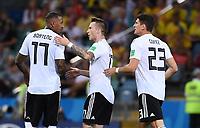 FUSSBALL WM 2018  Vorrunde  Gruppe F   ----- Deutschland - Schweden       23.06.2018 Jerome Boateng, Marco Reus und Mario Gomez  (v.l., alle Deutschland) nach dem 1:1