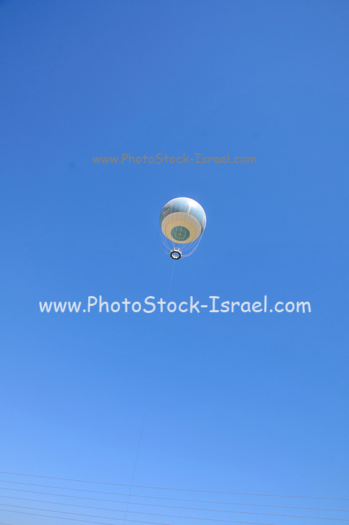 Tourist attraction observation balloon. Photographed at the Agamon bird sanctuary, Hula Valley, Israel