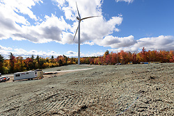 Colebrook South Wind Project. BNE Energy, Owner and The Ryan Company, Contractor. Ground Leve Generall Project Site and Equipment View. 16 October 2015