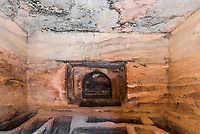 indoors tomb in Petra Jordan middle east