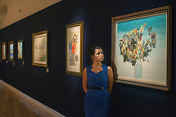 © licensed to London News Pictures. London, UK 15/06/2012. Enrico Donati's Fleures Surrealistes expected to be sold for £20.000 - £30.000 by Bonhams on 19/06/12. Photo credit: Tolga Akmen/LNP