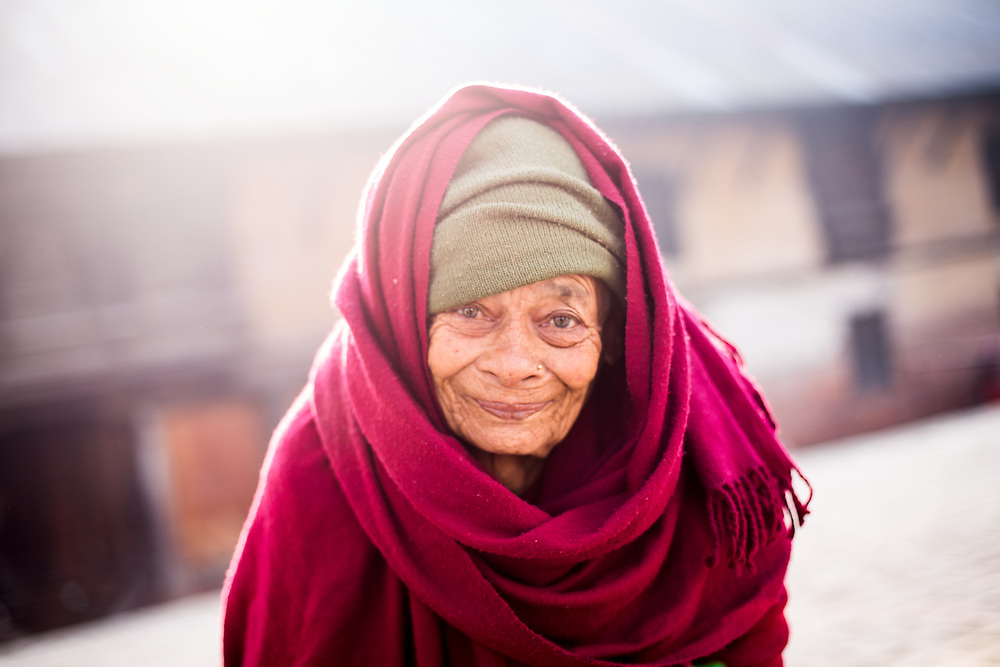 Portrait of a resident of the Social Welfare Centre for Elderly in Kathmandu, Nepal.<br />