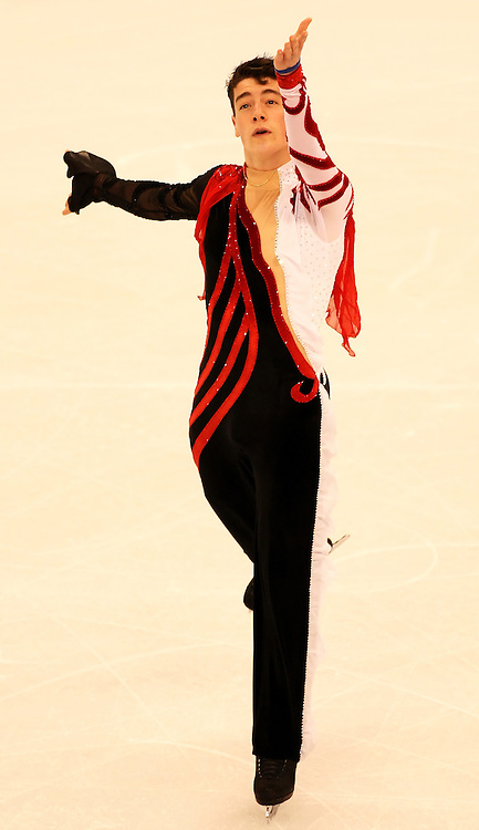 (Ottawa, ON---1 November 2008)  Brandon Mroz of the USA compete in the men's free skate at the 2008 HomeSense Skate Canada International figure skating competition. He finished seventh. Photograph copyright Sean Burges/Mundo Sport Images (www.msievents.com).