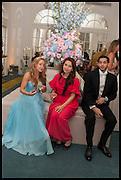 OLGA NESTERENKO; MALIKA YUNUSOVA; NADEEM ADRA, Florence Heoluwa 'Cuppy' Otedola Marie Antoinette Graduation party. Mandarin Oriental, Knightsbridge25th of July 2014.