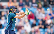Picture by Allan McKenzie/SWpix.com - 19/05/2019 - Sport - Cricket - 5th Royal London One Day International - England v Pakistan - Emerald Headingley Cricket Ground, Leeds, England - England's Jos Buttler hits out against Pakistan.