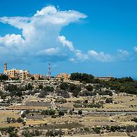 View from Mdina of Mtarfa Hospital,<br />Malta, Europe.<br />Summer 2016.
