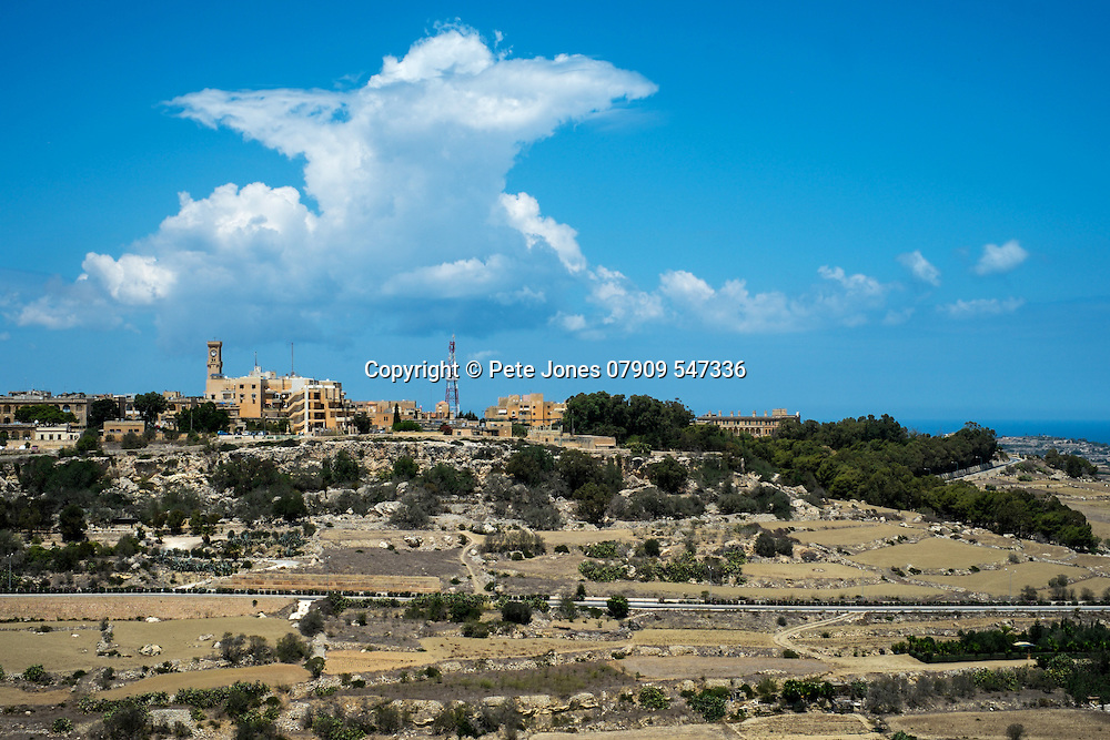 View from Mdina of Mtarfa Hospital,<br />