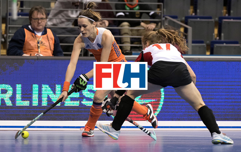 BERLIN - Indoor Hockey World Cup<br /> Women: Poland - Netherlands<br /> foto: Donja Zwinkels.<br /> WORLDSPORTPICS COPYRIGHT FRANK UIJLENBROEK