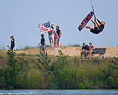 Kiteboarding Lake Michigan Door County Wisconsin. Stock Photography