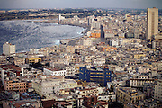 The old section of Havana, Cuba (called Old Havana). The district along the harbor is called the Malecon. Material World Project.