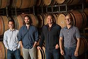 Lawrence Stewart, Jesse Schmidt, Paul Golitzin, Alex Stewart (left to right) Quilceda Creek Vitners, Washington
