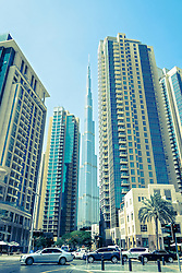 Burj Khalifa tower the world's tallest building in Dubai United Arab Emirates