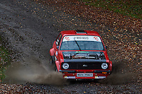 #8 Graeme Bell / Russ Radford Ford Escort Mk2 Milton /Sutton and Cheam Clarion Homes during Neil Howard Memorial Stage Rally, and opening round of the 2015 Motorsport News Rally Championship.  at Oulton Park, Little Budworth, Cheshire, United Kingdom. November 07 2015. World Copyright Peter Taylor. Copy of publication required for printed pictures.  Every used picture is fee-liable. http://archive.petertaylor-photographic.co.uk