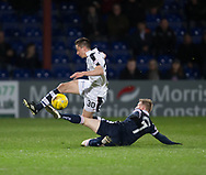 Ross County's Michael Gardyne tackles Dundee&rsquo;s Cammy Kerr - Ross County v Dundee in the Ladbrokes Scottish Premiership at The Global Energy Stadium, Dingwall, Photo: David Young<br /> <br />  - &copy; David Young - www.davidyoungphoto.co.uk - email: davidyoungphoto@gmail.com