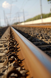 Close up of rail tracks