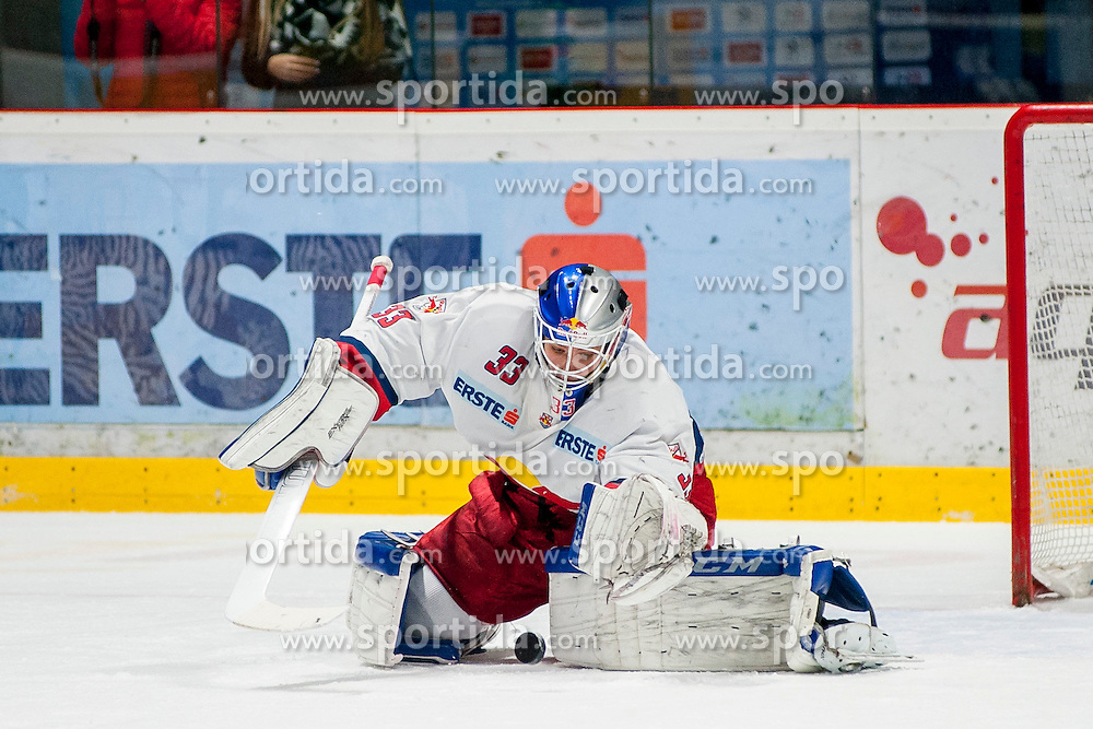 27.11.2016, Ice Rink, Znojmo, CZE, EBEL, HC Orli Znojmo vs EC Red Bull Salzburg, 24. Runde, im Bild Luka Gracnar (EC Red Bull Salzburg ) // during the Erste Bank Icehockey League 24th round match between HC Orli Znojmo and EC Red Bull Salzburg at the Ice Rink in Znojmo, Czech Republic on 2016/11/27. EXPA Pictures © 2016, PhotoCredit: EXPA/ Rostislav Pfeffer