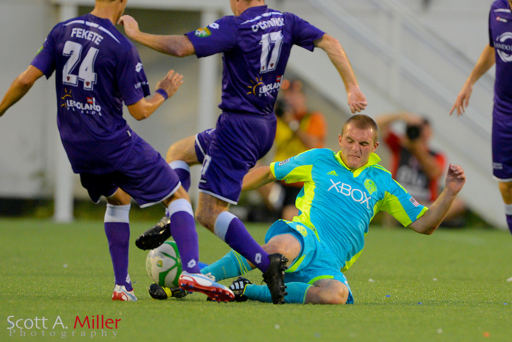 Seattle Sounders forward Will Bates (28) in action during a USL Pro soccer game against Orlando City at the Citrus Bowl on Aug. 11, 2013 in Orlando, Florida. <br /> <br /> &copy;2013 Scott A. Miller