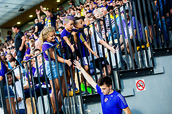 Fans during 2nd Leg football match between NK Maribor and FC Chikhura in 2nd Qualifying Round of UEFA Europa League 2018/19, on August 2, 2018 in Ljudski vrt, Maribor, Slovenia. Photo by Ziga Zupan / Sportida