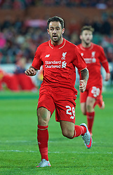 ADELAIDE, AUSTRALIA - Monday, July 20, 2015: Liverpool's Danny Ings in action against Adelaide United during a preseason friendly match at the Adelaide Oval on day eight of the club's preseason tour. (Pic by David Rawcliffe/Propaganda)
