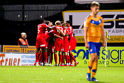 Leyton Orient players celebrate their equalising goal - Mandatory by-line: Ryan Crockett/JMP - 20/08/2019 - FOOTBALL - One Call Stadium - Mansfield, England - Mansfield Town v Leyton Orient - Sky Bet League Two