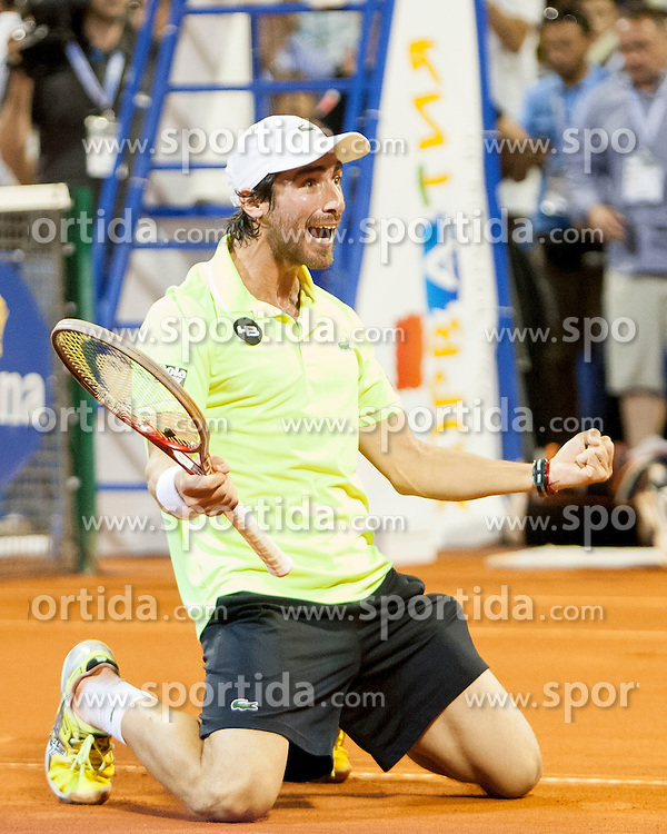 Pablo Cuevas of Uruguay during final of singles at 25th Vegeta Croatia Open Umag, on July 27, 2014, in Stella Maris, Umag, Croatia. Photo by Urban Urbanc / Sportida