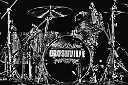 20 September 2014:   Brushville performs at the Chris Brown Benefit Concert at the Corn Crib Stadium, Normal Illinois.  The band is comprised of Brett Gillan - frontman-guitar-vocals, Kirk Ellis - violin-guitar, Dustin Reynolds - guitar, Marc Broomby - bass, Darin Holthaus - drums
