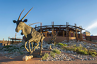Reception area to the Kgalagadi Transfrontier Park at Twee Rivieren, Kgalagadi Transfrontier Park, Northern Cape, South Africa