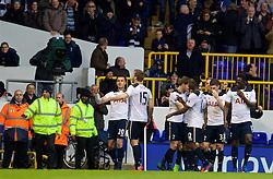 LONDON, ENGLAND - Sunday, March 5, 2017: Tottenham Hotspur's Dele Alli celebrates scoring the third goal against Everton during the FA Premier League match at White Hart Lane. (Pic by David Rawcliffe/Propaganda)